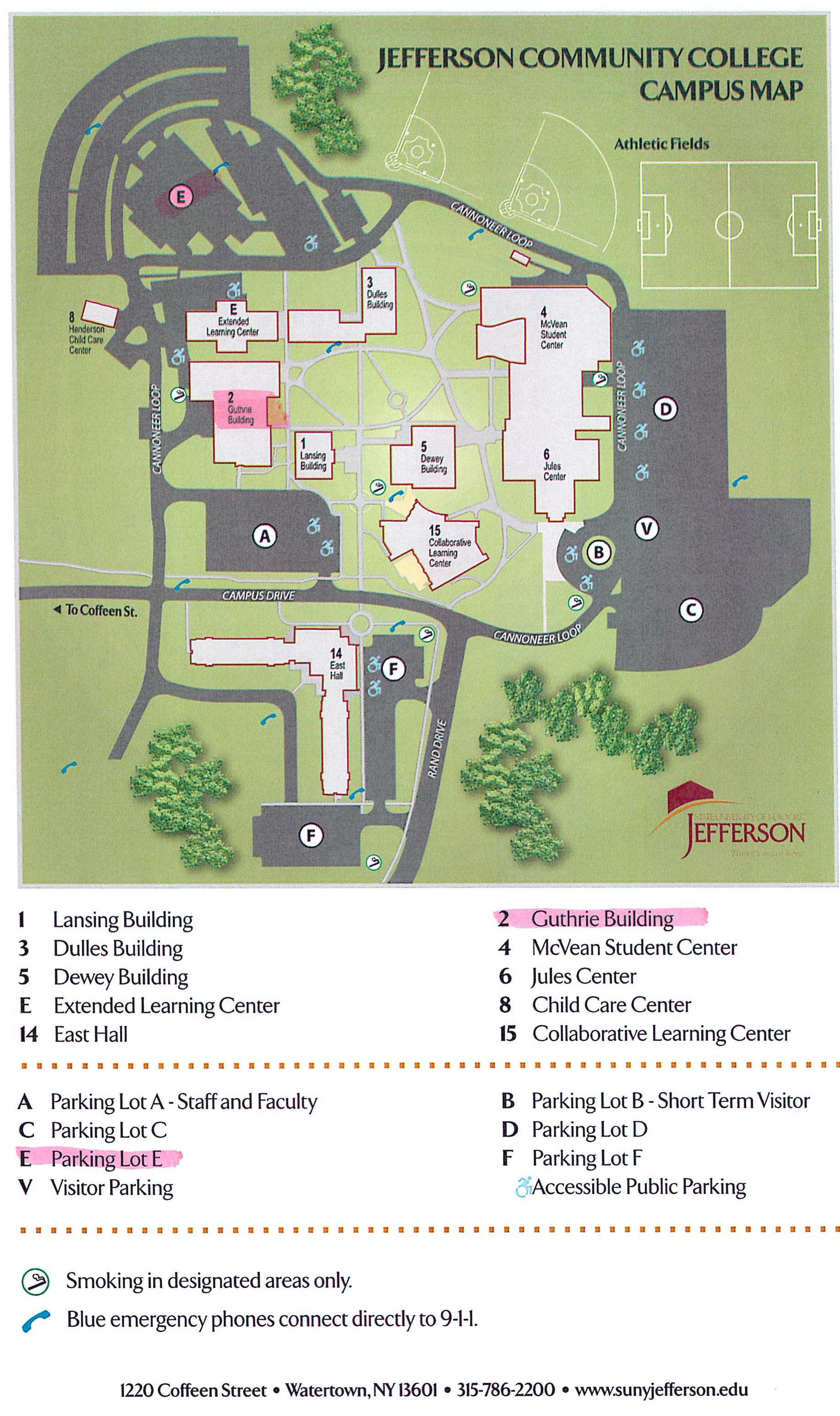 Campus Map - Guthrie Building & Parking